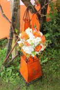 Zeremoniedekoration orange Fotobuch Zeremoniedekoration Blumenarrangements Fotobuch 2019 (IMG_2665)